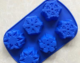 Christmas snowflake silicone baking moulds for  cake chocolate bread ice tray candy crafts tools