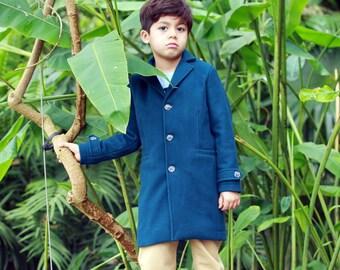 Classic wool boys coat with removable hood, Winter coat, Boys wool coat, Trendy coat, Toddler boy coat, Down coat, Pea coat, Long boys coats
