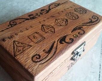 Door wooden dice, Dungeons & Dragons-ash-