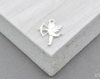 925 Sterling Silver angel, angel pendant, a little angel, angel jewelry, angel, angel blank, angel element, angel, guardian angel, amor, cup