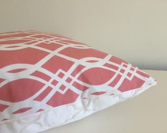 Pillow Cover Coral Geometric