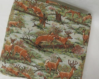 Handmade Deer In Nature Quillow