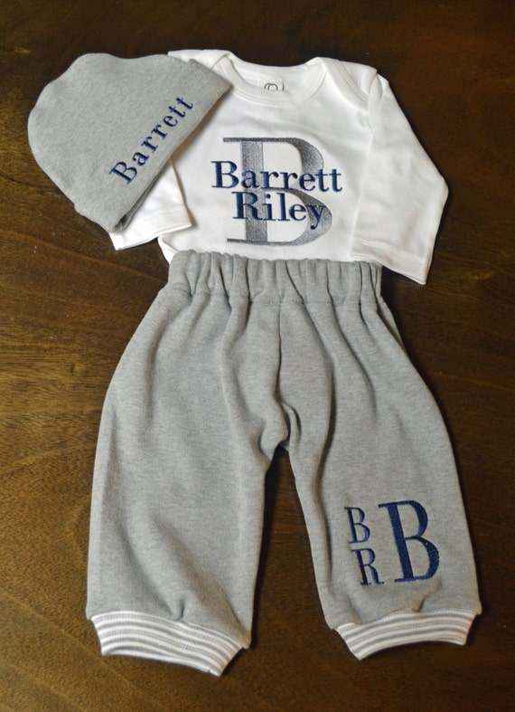 Personalized Baby Boy Outfit Baby Boy Clothes Baby by