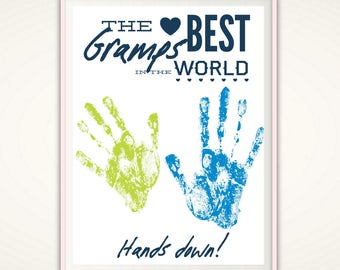 Gramps Gifts - Personalized Gifts for Gramps, Gifts from kids, Handprint Art, Gifts from Grandkids, Christmas Gift, PRINTABLE, DIY, Grampy
