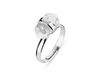 Clear Stone - Adustable Ring