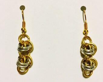 Barrel weave earrings
