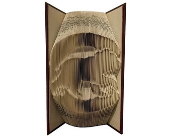 Chicago Cubs Folded Book - Folded Book Art - World Series Champions - Baseball Folded Book - Cubs Logo - Cubs Bear Logo - Gift for Cubs Fan