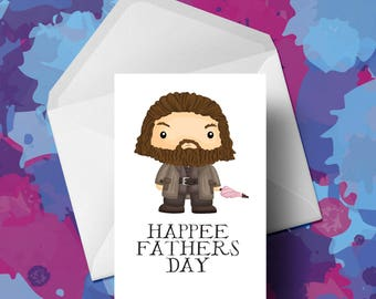 Harry Potter - Hagrid - Fathers Day Card