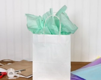 ADD GIFT BAG * Add Gift Wrapping * White Kraft Paper Gift Bag with Tissue Paper & Handmade Hangtag * Gift Wrap * Add On Item