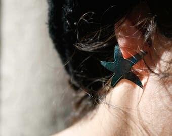 Blue starfish. Starfish earrings. Beach jewelry. Bohemian earrings. Summer earrings. Nautical jewelry. Beach jewelry ideas. Gifts ideas.