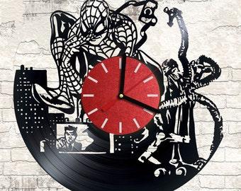 Vinyl wall clock Spiderman Hero