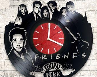vinzl wall clock Friends the best gift bz vinylmonstars