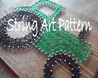 DIY Tractor String Art Pattern, Tractor String Art Pattern, String Art Tractor Pattern, DIY String Art Pattern, Tractor Art Pattern, Tractor