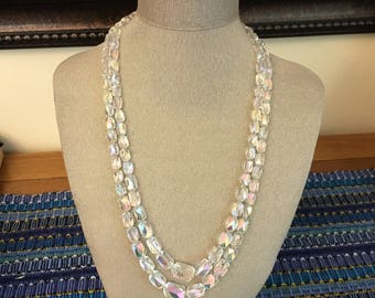Swarovski Aurora Borealis Necklace- Unusual Cut