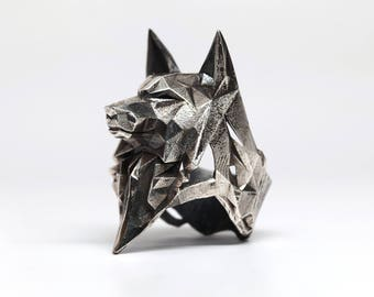 LARGE WOLF RING - VvILK