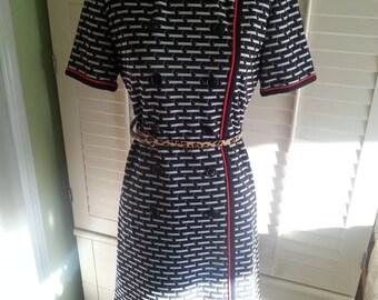 Vintage dress, vintage black dress, 1960's dress, 1960's fashion , leslie fay dress, hippie dress.