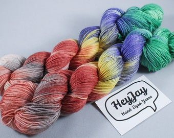 4ply Hand Dyed Yarn Superwash Merino Marquee