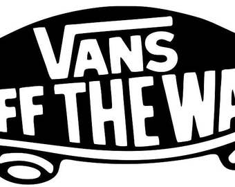 Vans 'Off The Wall' Logo Car/Van/Window Vinyl Decal Sticker