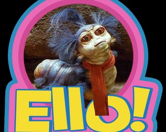 "80's Jim Henson Classic Labyrinth The Worm ""Ello!"" custom tee Any Size Any Color"