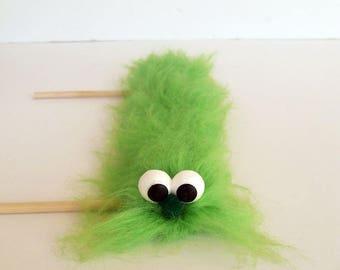 Green Caterpillar puppet - Hand Puppet