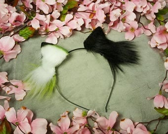 Black and Green Mix Ears