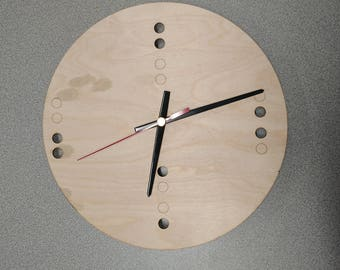 Laser Cut Binary Clock