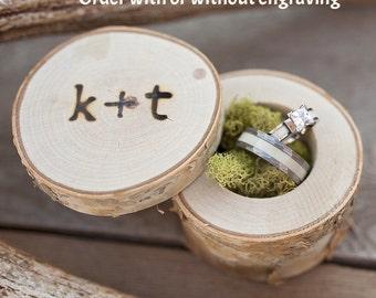 Custom Birch Wood Box with Engraving or Plain