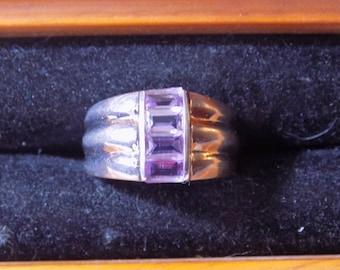 Delightful Amethyst Sterling Silver ring