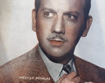 Melvyn Douglas Vintage Sepia 8x10 Photographic Print