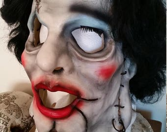 Leatherface Pretty Woman Mask With Attached Wig