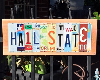HAIL STATE - Mississippi State Bulldogs license plate sign / tailgate/ graduation gift/ alumni