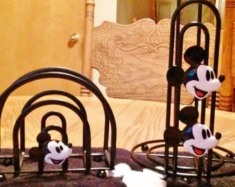 Mickey Mouse paper towel and napkin holder set