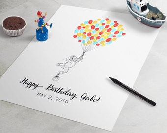 happy monkey baby shower guest book baby shower guestbook is a great baby shower sign