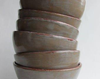 Pottery Handmade Bowl Set of 6