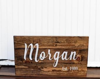 Last Name Door Sign - Front door name sign - Family Pallet Sign - Wedding Establish Sign