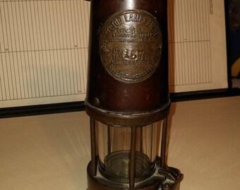 vintage miner's lamp Type SL - Protector L & L Co - Eccles