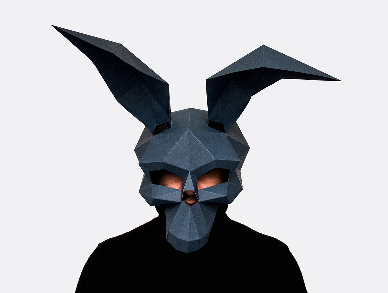 Rabbit Skull Mask DIY printable skull mask Instant Pdf