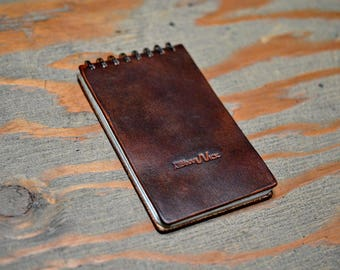 """Leather Draft Pad Notepad Journal - Small 3"""" x 5"""""""