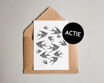 Swallows | 10 x 15 cm print (SALE)