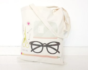 Cheerfully illustrated stuff| TOTE BAG | Full color | 100% Organic Cotton Canvas
