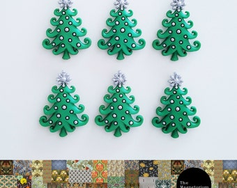 Christmas Tree Fridge Magnet Set