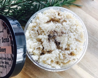 Oatmeal, Honey, Propolis Face & Body Scrub, Shea Butter,  Jojoba oil, Essential oil
