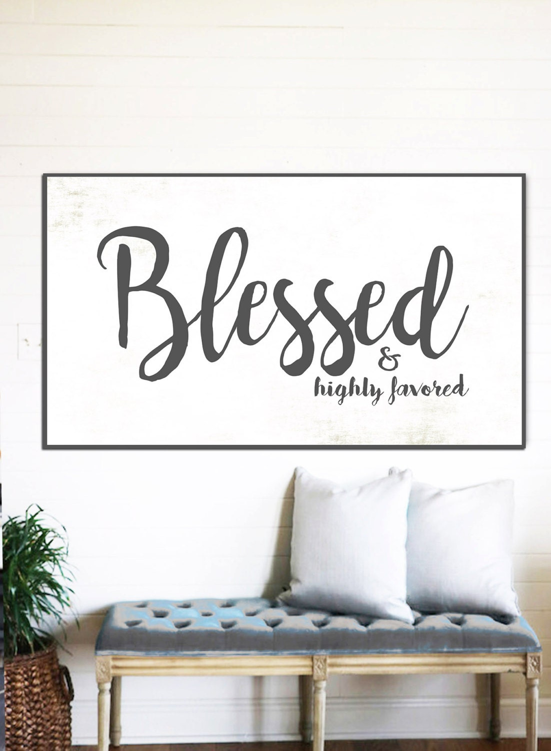 Blessed Sign Rustic Sign Gift For Her Home Decor Farmhouse