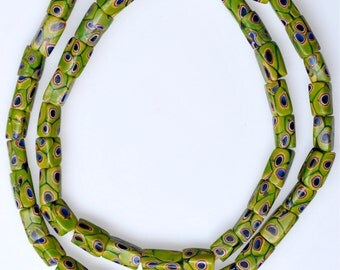 Strands of Matching Venetian Millefiori Beads - Vintage African Trade Beads - 21-22 Inch Strand