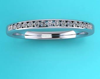 platinum channel set diamond eternity ring/platinum channel set half eternity/diamond half  eternity/platinum 17 stone eternity ring