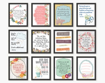 LDS General Conference Quote Bundle Pack - 18 Different Quotes and Designs Included! - 5x7 Size Jpeg Files - Digital Downloads