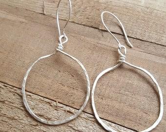 My sterling silver hoops