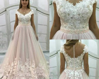 Blush Light-As-Air Vintage Inpired Blush wedding dress,Fabric Swatches
