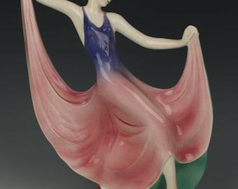 "Katzhutte art deco figurine 1236 ""Dancing Lady"""