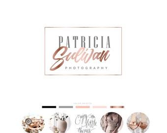 Photography Logo, Premade logo, Wedding Logo, Business Logo, Wedding Photography Logo, Boutique design, Rosegold logo, Logo Design, Logo 01